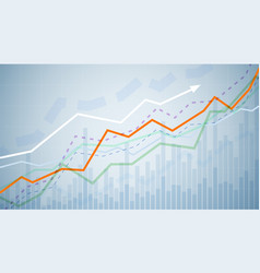 financial graph chart business data analytics vector image