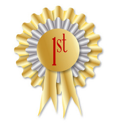 First prize rosette vector