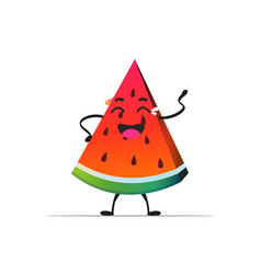 Fresh juicy watermelon personage crying tasty ripe vector