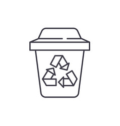 garbage sorting line icon concept garbage sorting vector image