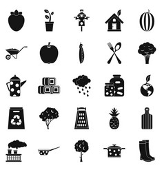 granger icons set simple style vector image