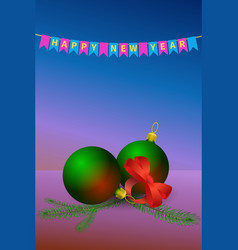 happy new year concept or card vector image