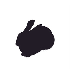 hare lies silhouette vector image