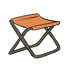 Icon fishing folding chair white background vector