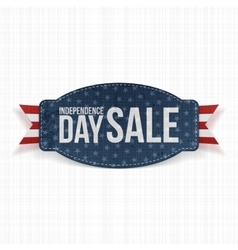 Independence Day Sale greeting Label vector image