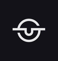 Initials s u letter logo vector