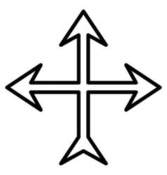 Intersection Arrows Contour Icon vector