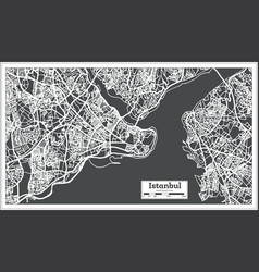 Istanbul turkey map in retro style vector