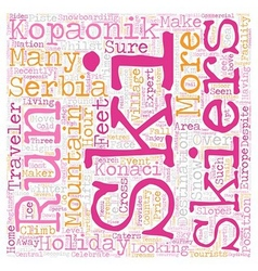 Kopaonik in Serbia text background wordcloud vector