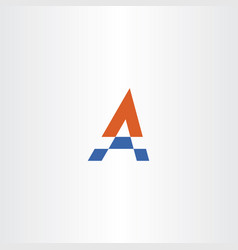 letter a blue orange logo sign logotype symbol vector image