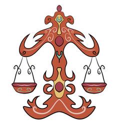 libra astrology sign horoscope zodiac symbol vector image