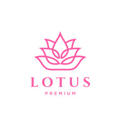 Lotus flower logo template design vector