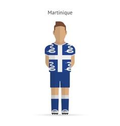 Martinique football player Soccer uniform vector image