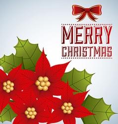 merry christmas design vector image