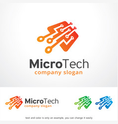 Micro tech logo template design vector