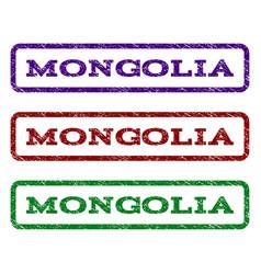 Mongolia watermark stamp vector