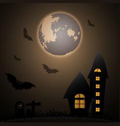 mystery halloween moon night vector image