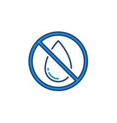 No water drop forbidding concept colored vector
