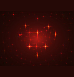 on the theme of valentines day heart of the stars vector image