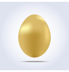 One big golden easter egg icon vector image
