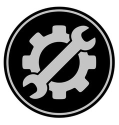Optional gear black coin vector