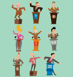 orator politician people speakers broad gestures vector image