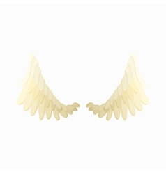Pair of angel wings icon cartoon style vector image