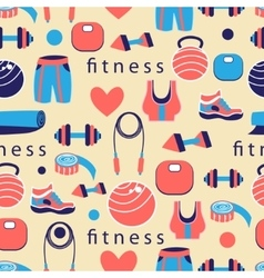 pattern of sports equipment vector image