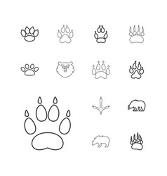 Paw icons vector