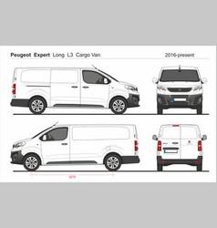 Peugeot expert cargo long van l3 2016-present vector