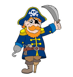 Pirate with sabre vector