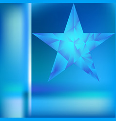 Polygonal star background vector