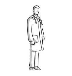 portrait of a doctor with uniform vector image