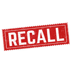recall sign or stamp vector image