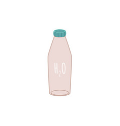 reusable water eco bottle in flat style vector image