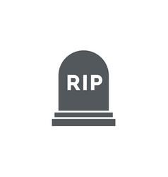 rip grave icon tombstone gravestone death vector image