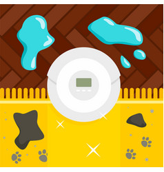 robot vacuum cleaner concept background flat vector image