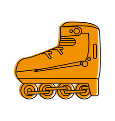 Rollerblade or skate icon image vector