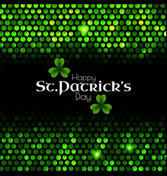 st patrick s day green sequins background vector image