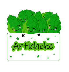 Sticker or logo for artichoke tea fresh vector