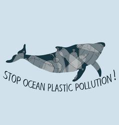 Stop trashing our ocean vector