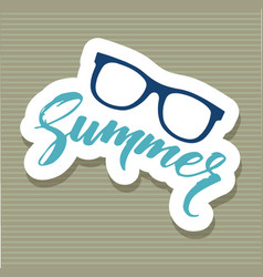 summer glasses sticker icon cartoon style vector image