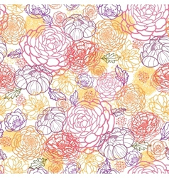Sweet flowers seamless pattern background vector image