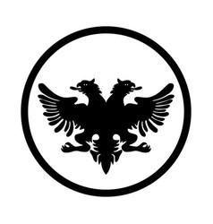 Symbol albania icon - iconic design vector