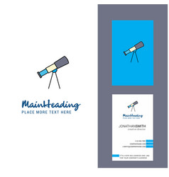 Telescope creative logo and business card vector