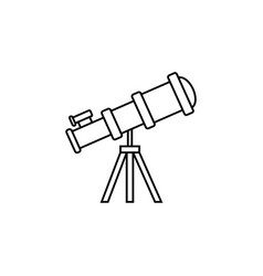 Telescope line icon education and astronomy vector