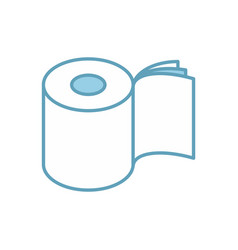 Toilet paper three layers roll icon symbol for vector