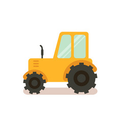 tractor agricultural machinery color vector image