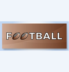 typography word football logo sport logotype with vector image