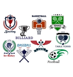 Variety sports icons set vector image